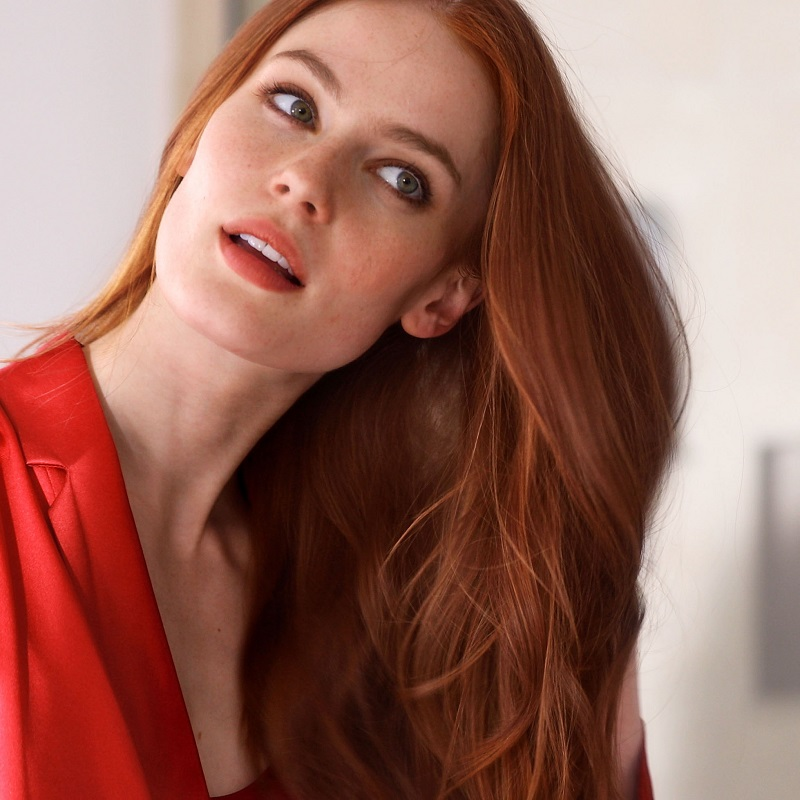 Aveda Red Head Model